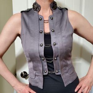 Bebe gray vest.